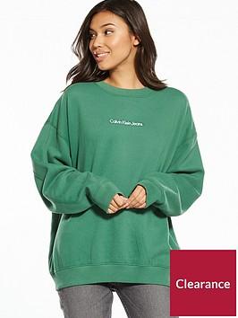 calvin-klein-jeans-hilary-hwk-long-sleeve-sweat-top-trekking-green