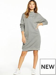 calvin-klein-jeans-denver-true-icon-long-sleeve-dress-mid-grey-heather