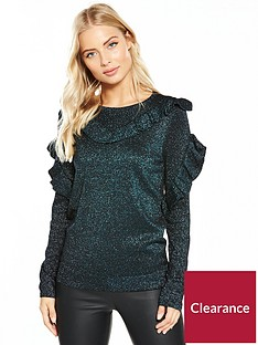 v-by-very-metallic-frill-jumper