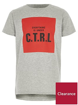 river-island-boys-grey-marl-039ctrl039-print-t-shirt