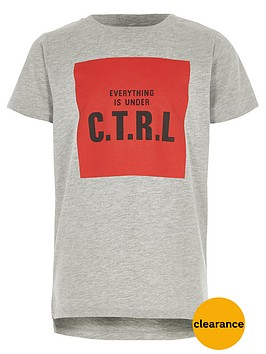 river-island-boys-grey-marl-039ctrl039-print-t-shirt