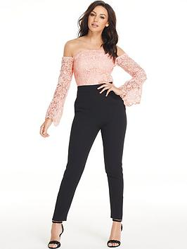 e9717e05106 Michelle Keegan Lace Body Tapered Leg Jumpsuit