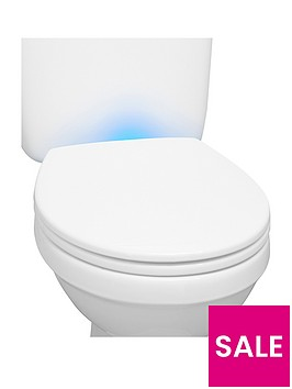 AQUALONA Night Light Soft Close Toilet Seat Verycouk - Blue soft close toilet seat