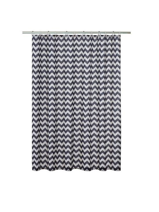 AQUALONA Chevron Shower Curtain