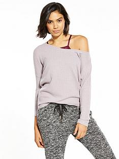 v-by-very-wide-neck-waffle-lounge-top