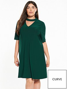 v-by-very-curve-jersey-choker-dress
