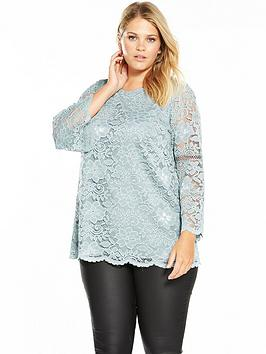v-by-very-curve-lace-fluted-sleeve-top