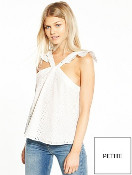 ri-petite-frill-shoulder-top-white