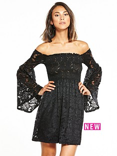 river-island-river-island-flute-sleeve-lace-bardot-dress