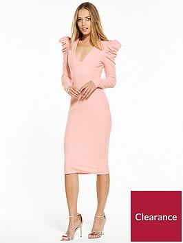 v-by-very-power-shoulder-bodycon-dress-blush