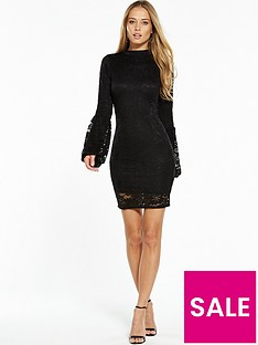 v-by-very-tulip-sleeve-lace-bodycon-dress-black