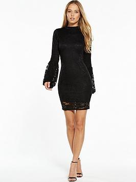 v-by-very-tulip-sleeve-lace-bodycon-dress-black