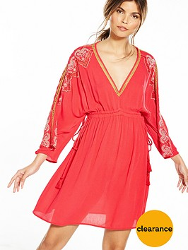 river-island-red-smock-dress