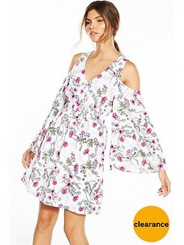river-island-printed-cold-shoulder-dress