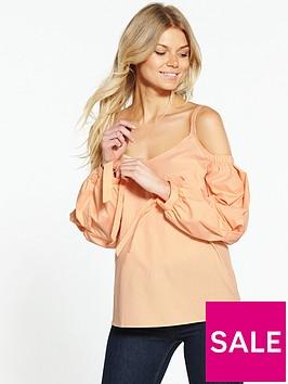 ri-petite-puff-sleeve-blouse-apricot