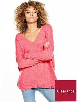 superdry-ruben-vee-jumper-bright-pink