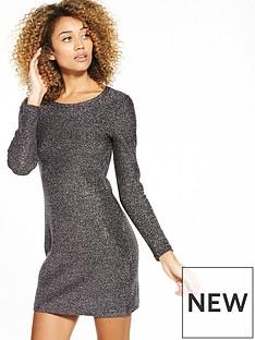 superdry-metallic-zip-back-knit-dress