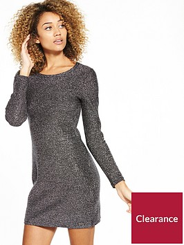 superdry-metallic-zip-back-knit-dress