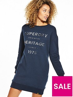 superdry-iona-embossed-sweat-dress-navy