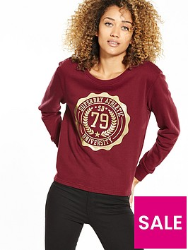 superdry-emelia-crew-neck-sweat-top-burgundy