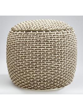 kaikoo-two-tone-woven-pouffe