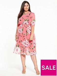 v-by-very-curve-printed-midi-dress