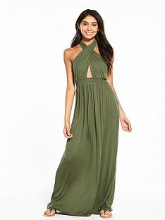 v-by-very-keyhole-halter-neck-jersey-beach-maxi-dress