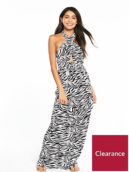 v-by-very-keyhole-halter-neck-jersey-printed-beach-maxi-dress-zebra