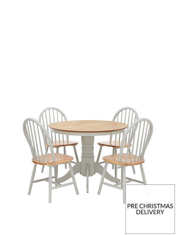 Marvelous Kentucky 100 Cm Round Dining Table 4 Chairs Unemploymentrelief Wooden Chair Designs For Living Room Unemploymentrelieforg