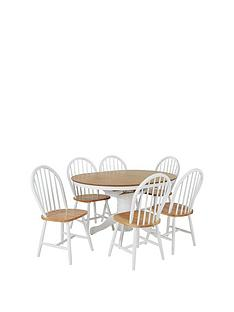 Kentucky 100 130 Cm Extending Round Dining Table + 4 Chairs