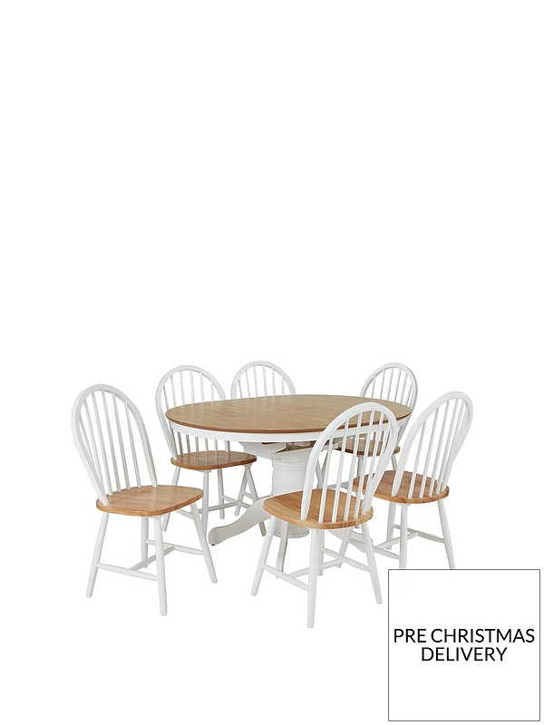 Groovy Kentucky 100 130 Cm Extending Round Dining Table 6 Chairs Creativecarmelina Interior Chair Design Creativecarmelinacom
