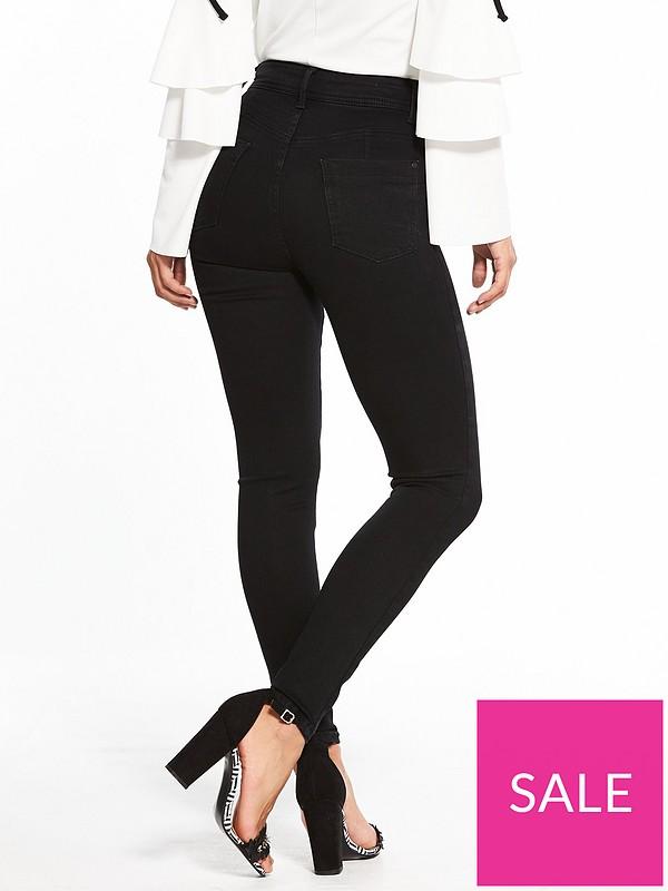 b19c4da8cfcde7 V by Very Premium Contour Sculpt Skinny Jeans - Black   very.co.uk
