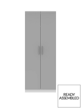 swift-montreal-gloss-ready-assembled-tall-2-door-wardrobe