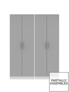 swift-montreal-gloss-ready-assembled-tall-4-door-wardrobe
