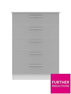 SWIFT Montreal Ready Assembled Tall 5 Drawer Chest