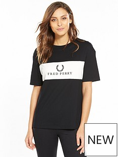 fred-perry-embroidered-panel-t-shirt