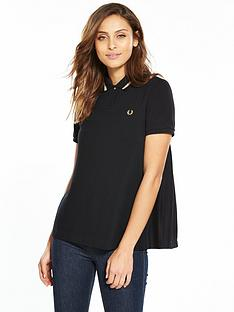 fred-perry-pleat-back-tipped-shirt-black