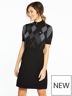 fred-perry-fred-perry-argyle-knitted-dress