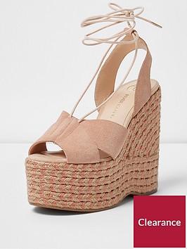 river-island-pink-tie-up-espadrille-platform-wedge-sandal