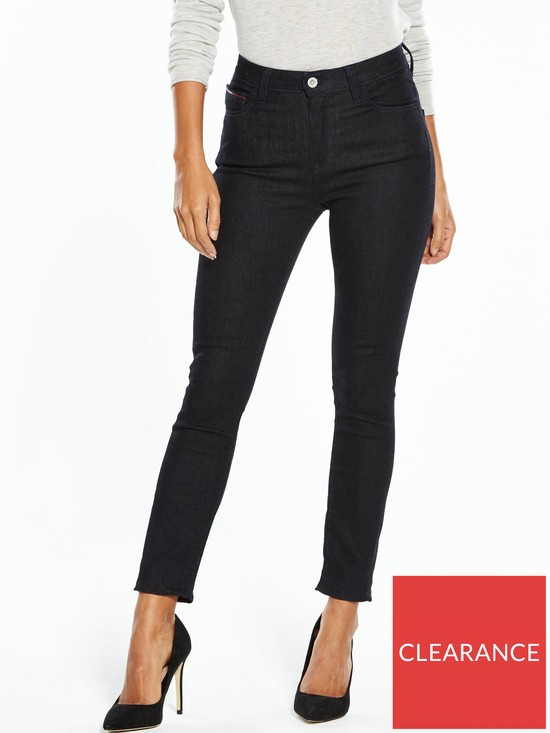 27758073 Tommy Jeans High Rise Skinny Santana Jean | very.co.uk