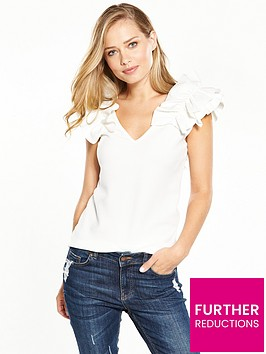 v-by-very-ruffle-shoulder-top-white