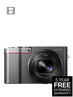 panasonic-lumix-dmc-tz100-digital-camera-wifi-3-inch-lcd-touch-screennbsp-silvernbspwith-extended-5-year-warranty-available
