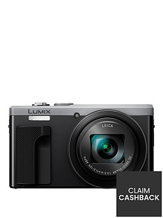 panasonic-lumix-tz80-super-zoom-digital-camera-3-inch-lcd-touch-screen-silvernbspup-to-pound140-double-cashback