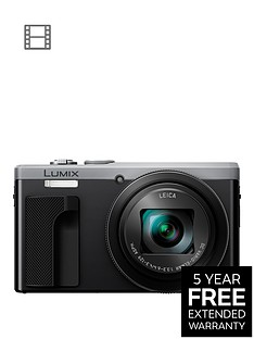 panasonic-lumix-tz80-super-zoom-digital-camera-4k-ultra-hd-181-megapixel-30xnbspoptical-zoom-wi-fi-evf-3-inchnbsplcdnbsptouch-screen-silvernbspwith-extended-5-year-warranty-available