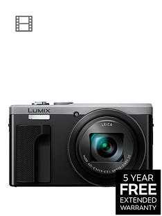 panasonic-lumix-tz80-super-zoom-digital-camera-4k-ultra-hd-181-megapixel-30xnbspoptical-zoom-wi-fi-evf-3-inchnbsplcdnbsptouch-screen-silvernbspwith-extended-5-year-warranty-available