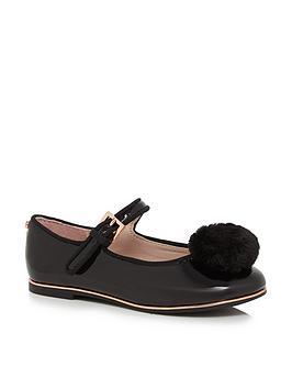 baker-by-ted-baker-older-girls-pom-pump-shoe-black