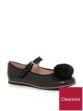 baker-by-ted-baker-older-girls-pom-pump-shoe-black