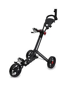 eze-glide-smart-fold-trolley-with-wheel-cover-umbrella-holder-black