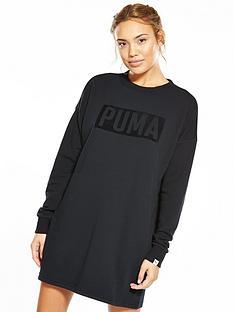 puma-fusion-crew-sweater-dress-blacknbsp