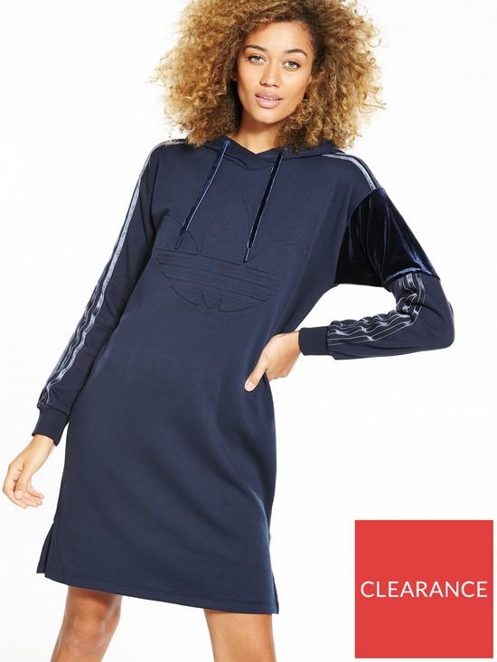 aff94bbc0aa0 adidas Originals St. Petersberg Velour Hoodie Dress